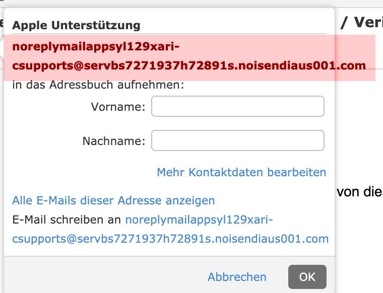 E-Mailadresse checken